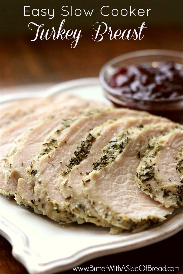 simple slow cooker turkey breast that turns out delicious!