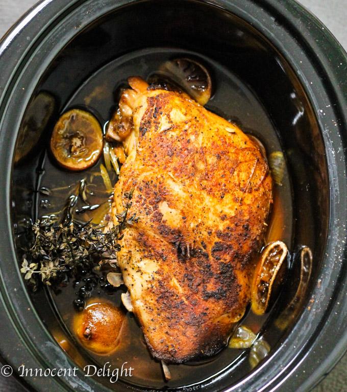 lemon garlic turkey breast in a crock pot. YUM.