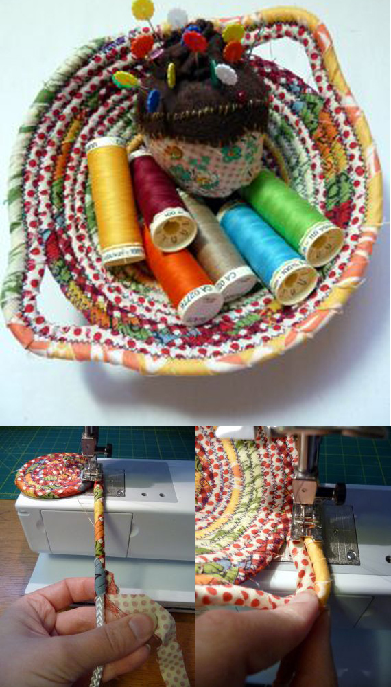 Make fabric scrap bowls!
