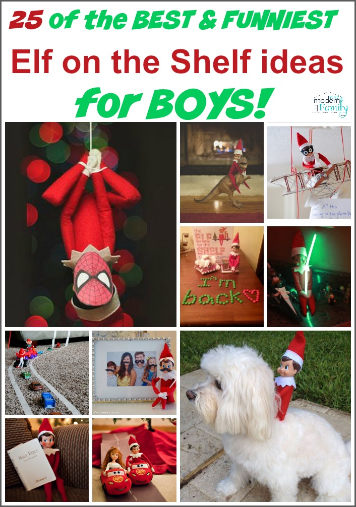Hilarious Elf on the Shelf ideas for boys (and girls!)