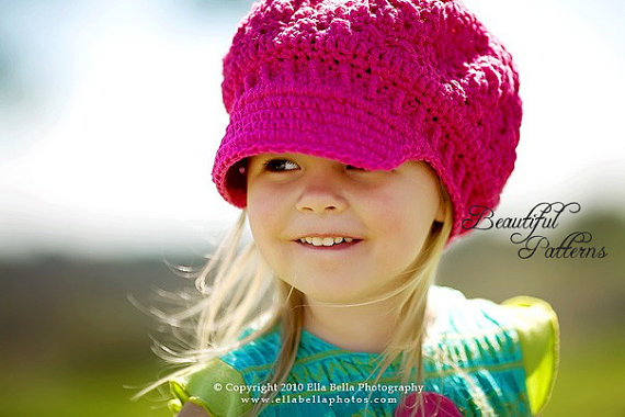 Lots of great crochet hat patterns for girls!
