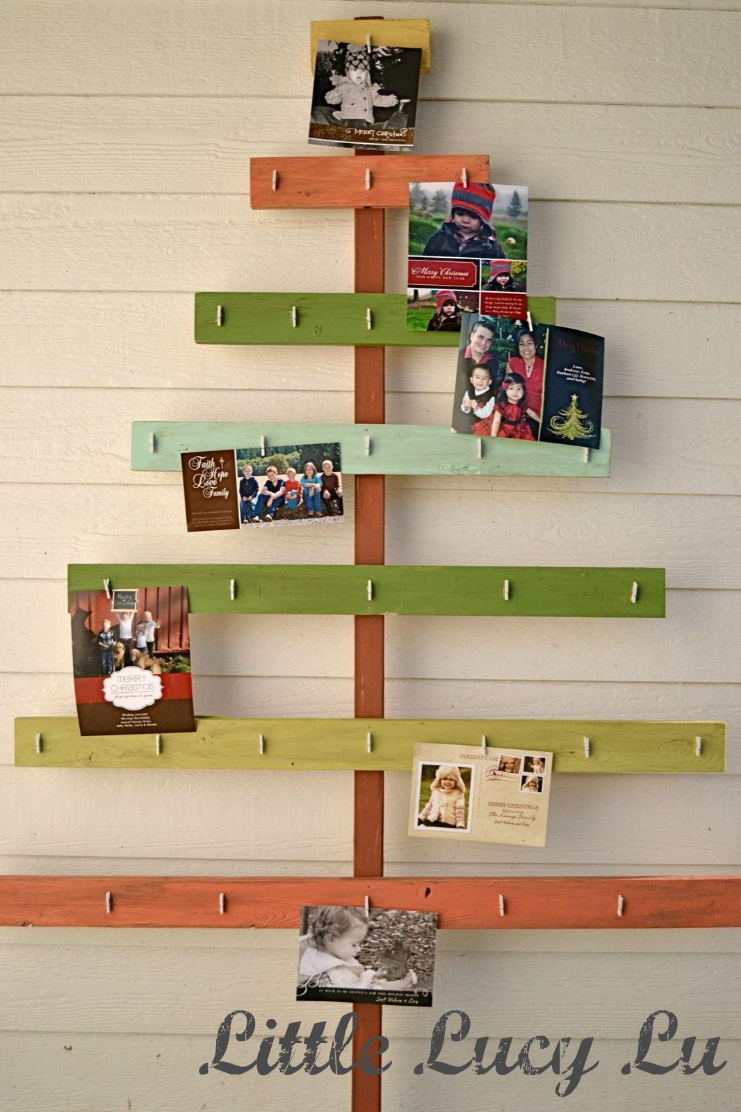 Christmas Card Tree Holder Great Tutorial