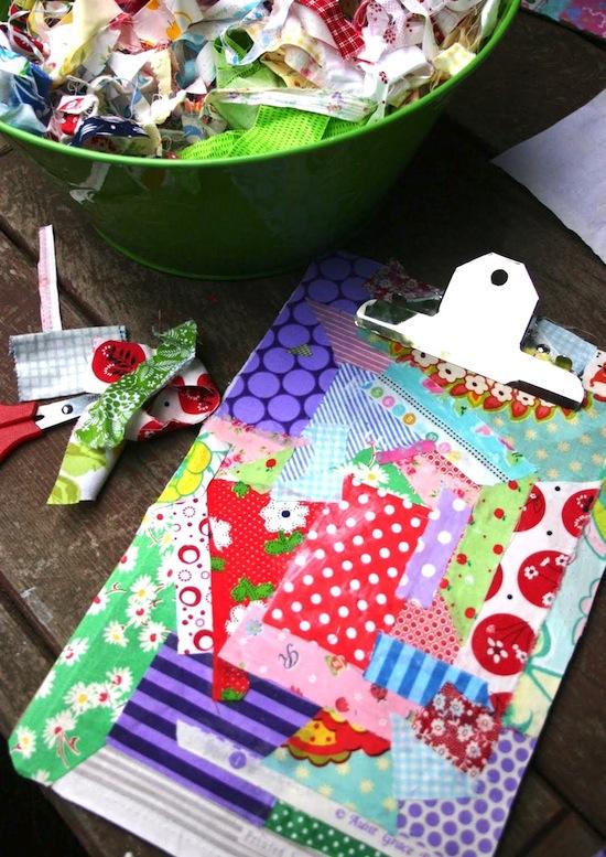 Tons of scrap fabric tutorials here!