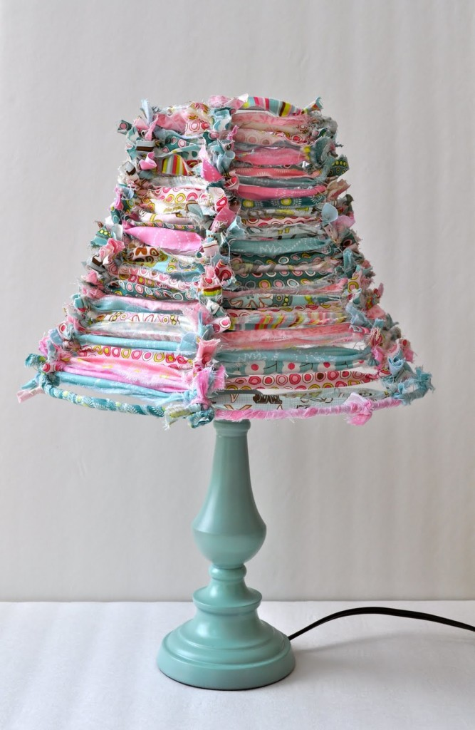 Scrap fabric lamp shade tutorial