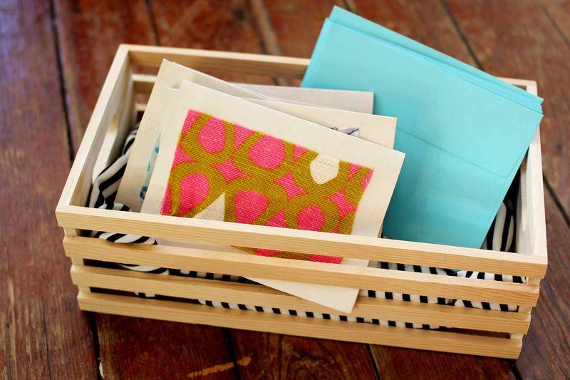 scrap fabric stationary tutorial