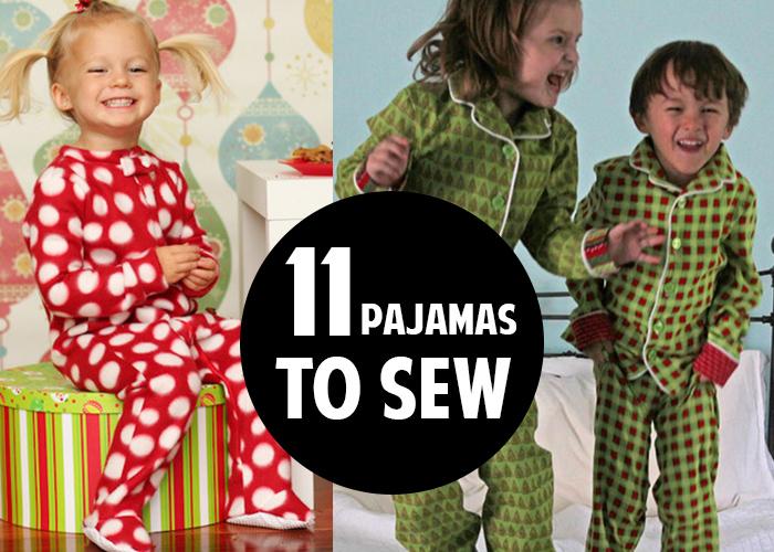 11 great pajama patterns to sew!