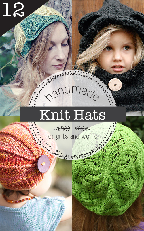 12 gorgeous knit hat patterns for girls and women you won't want to miss!