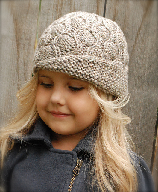 knitted hat patterns for girs