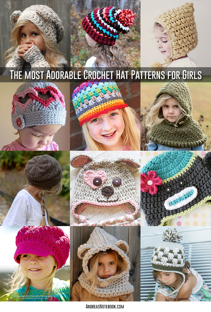 Ridiculously Cute Crochet Hat Patterns For Girls Andreas Notebook