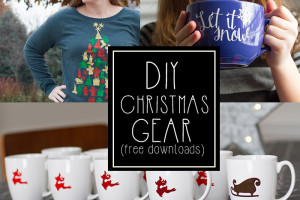 DIY Christmas decor and gear ideas! (free downloads)