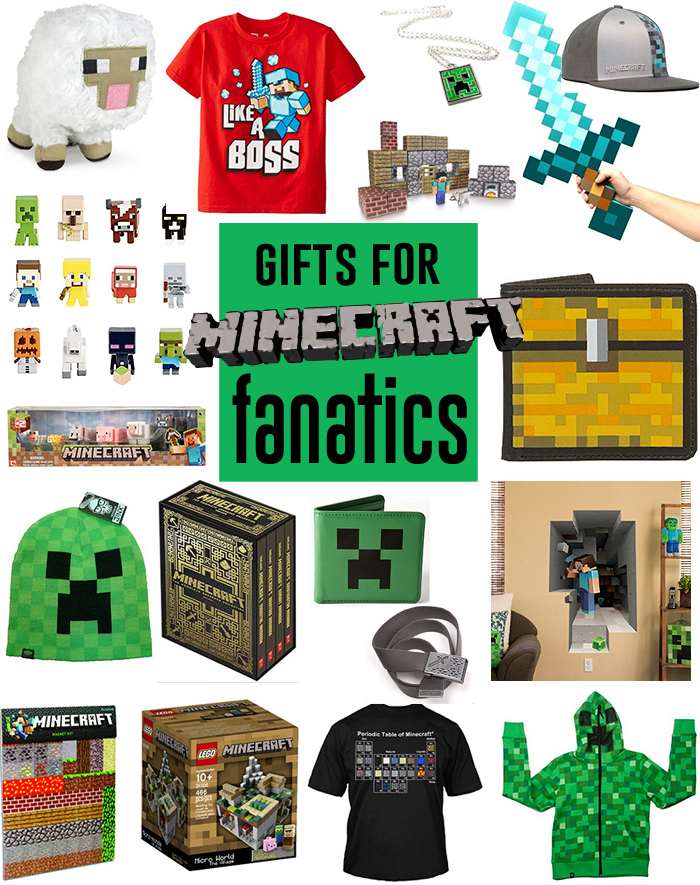 Have a Minecraft fanatic in your house?? Here are the perfect gifts for them! Lots of great ideas from things to buy to things to make!
