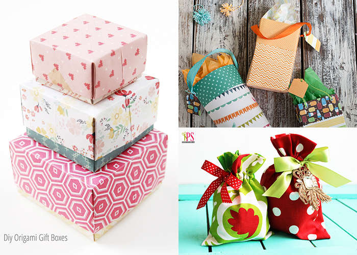 Tons of great homemade gift wrap ideas!