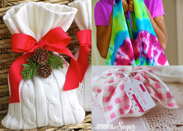 Lots of great DIY gift wrap