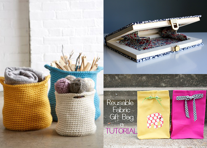 Lots of great homemade gift wrap ideas!