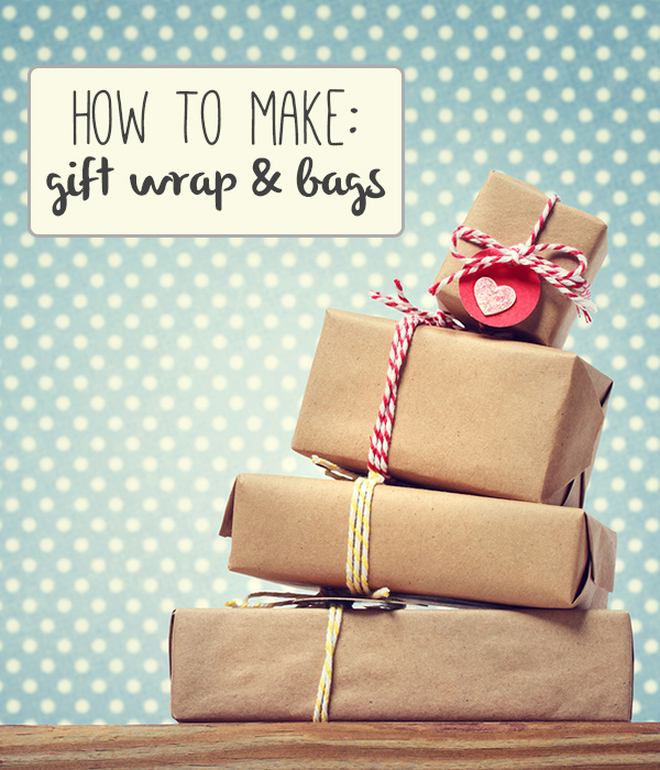Lots of great DIY gift wrap and bag tutorials