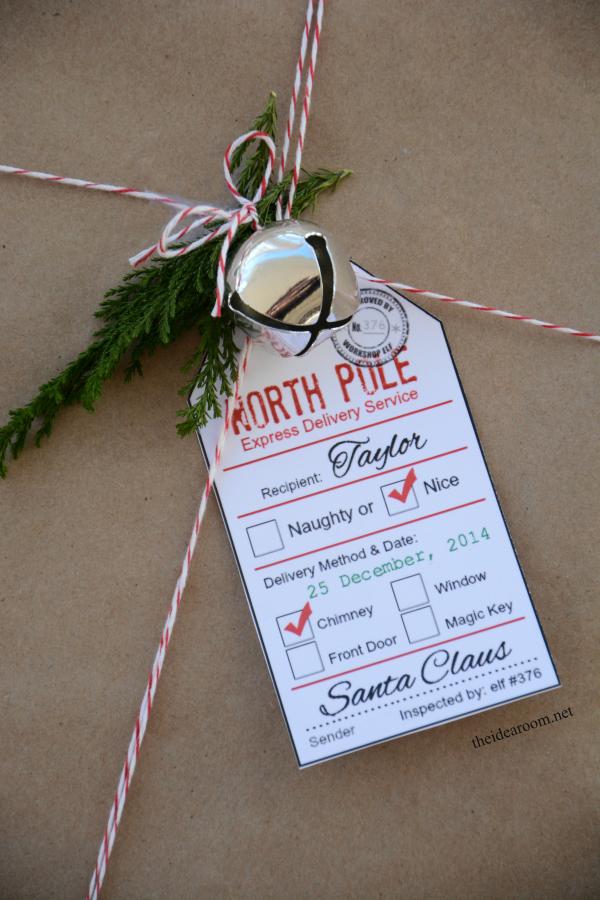 Printable Santa gift tags!
