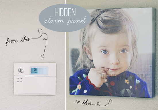 How to hide an alarm panel