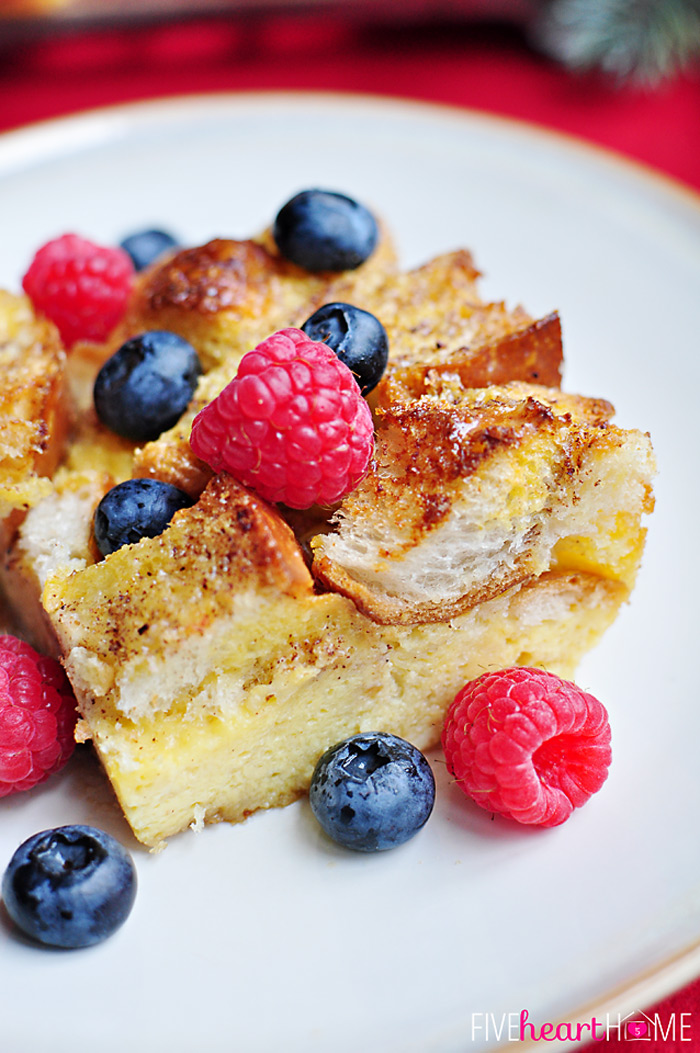 egg nog french toast - make ahead!