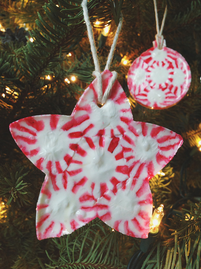 Peppermint candy DIY ornament