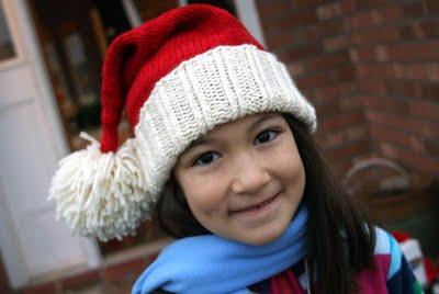 Knit santa hat pattern