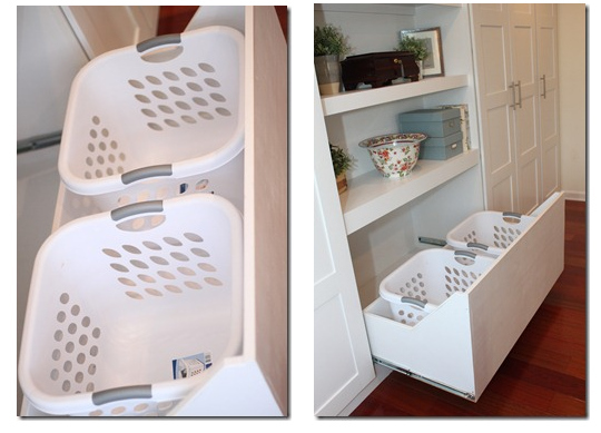 Ikea HACK! Hide your laundry baskets.