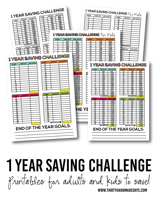 One Year Saving Challenge