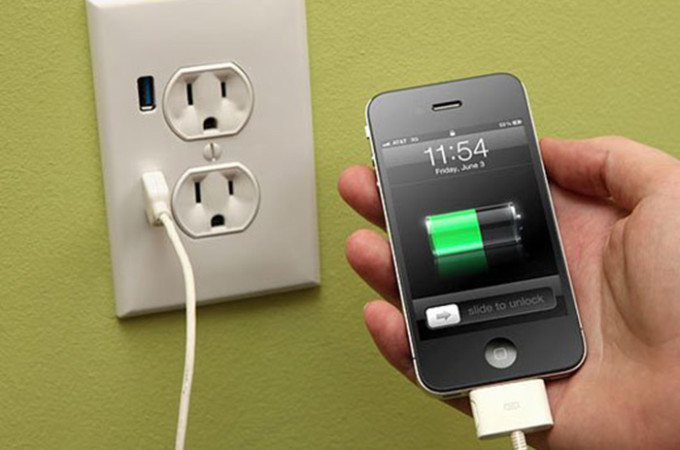 Install a USB port in your wall outlet!