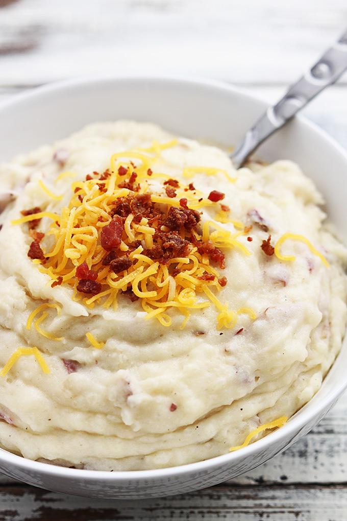 Basic mashed potatoes in a crock pot