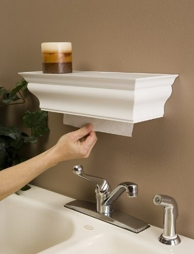 Hide your paper towels with a cute decorative shelf.