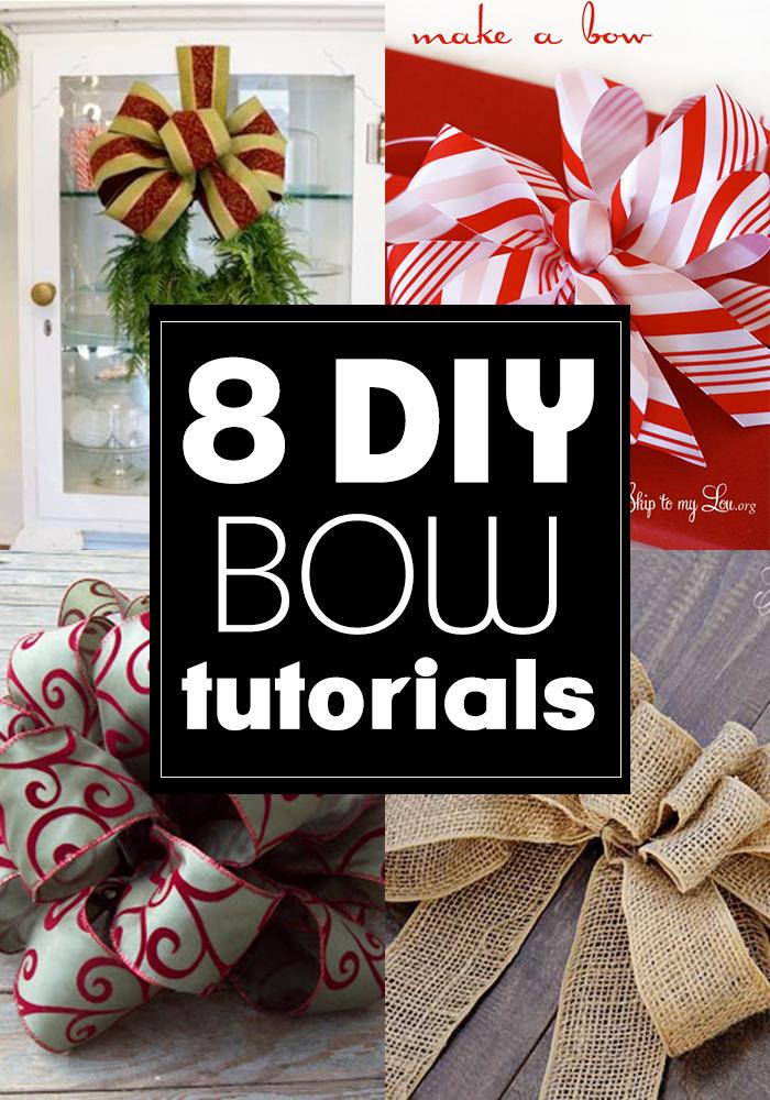 8 handmade DIY bow tutorials