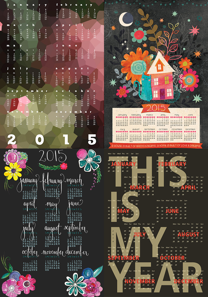Fantastic art print calendars!