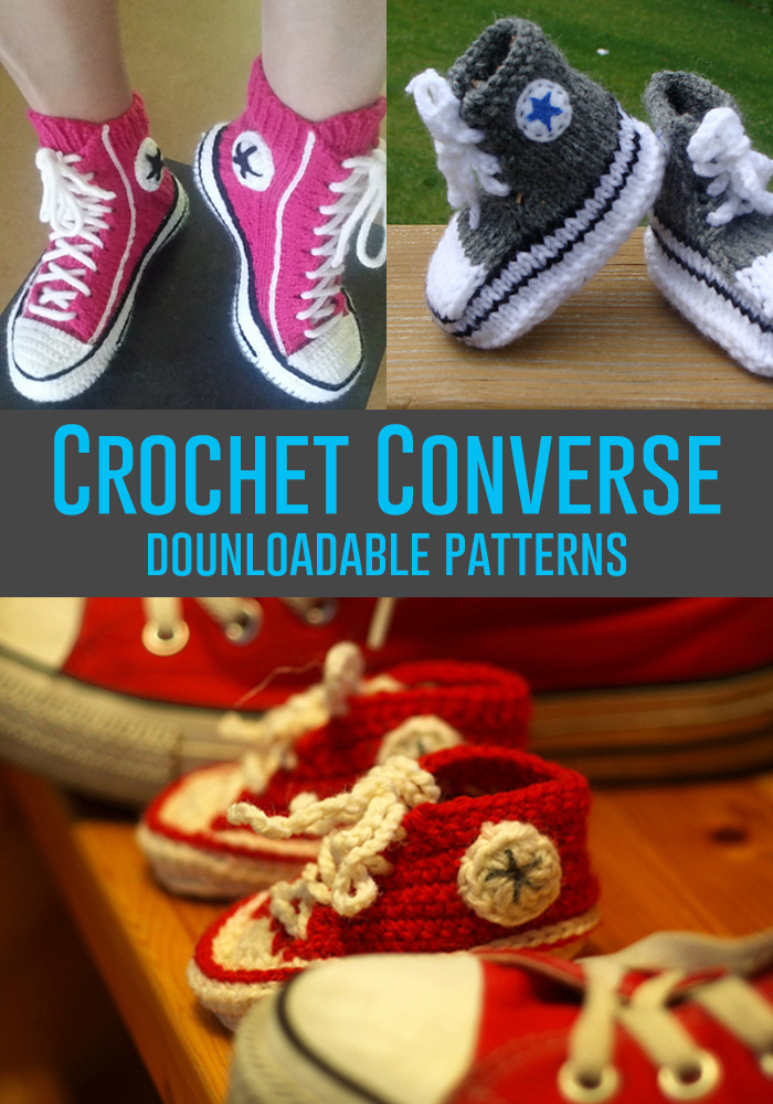 Free Crochet Pattern For Baby Converse : Converse Crochet and Knit Patterns - Andreas Notebook