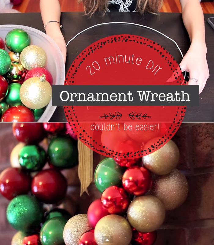 hands making ornament wreath