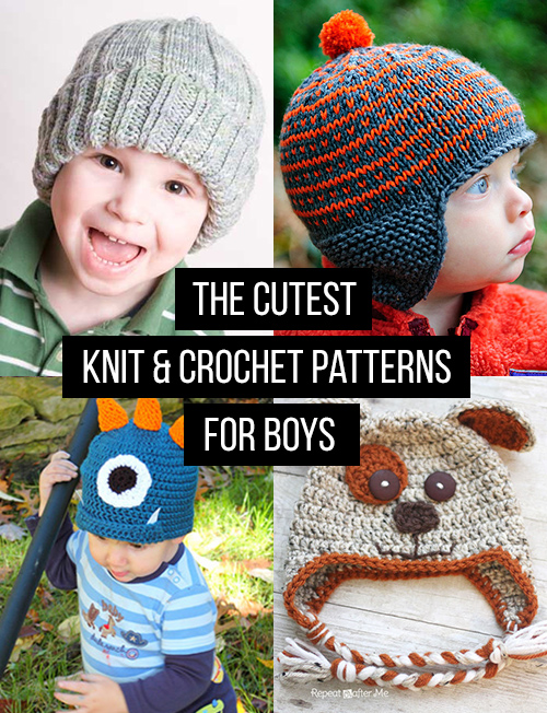 Crochet and Knit Hat Patterns for Boys - Andrea s Notebook 6dc1b28b0ce