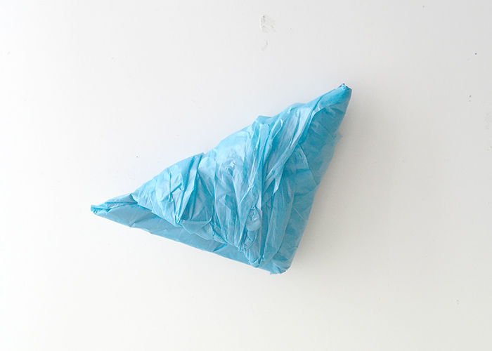This. Is. Awesome. How to flag fold a grocery bag in 10 seconds.