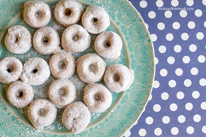 Powdered Sugar Gluten Free Doughnuts