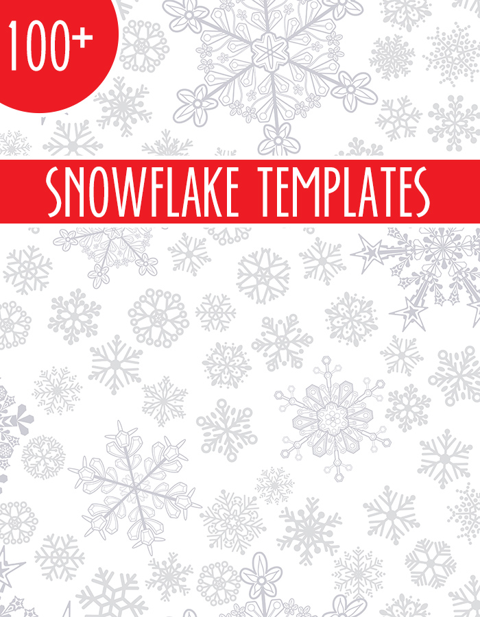 Over 100 Snowflake Templates Including Star Wars Frozen Christmas Themed And More