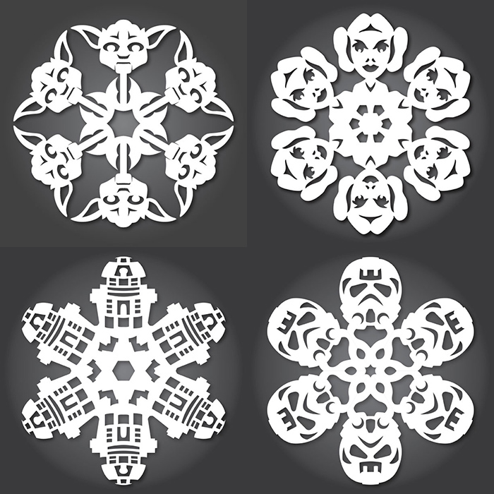 FREE Star Wars snowflake templates. Dozens!