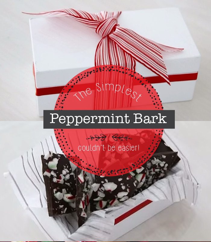 The world's simplest peppermint bark recipe! Must try!