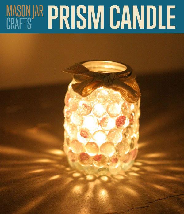 DIY prism candle