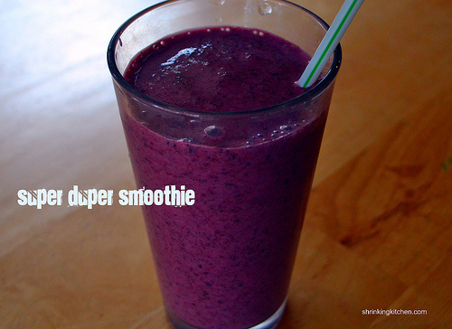 Super duper fiber packed smoothie