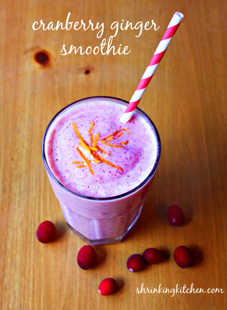 cranberry ginger smoothie recipe