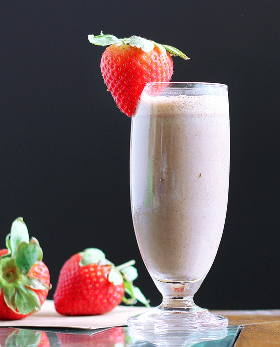 strawberry chocolate smoothie! Better than a milkshake!