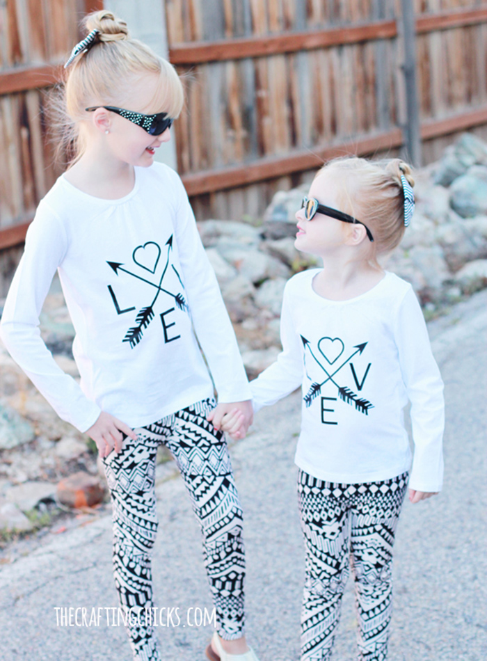 DIY LOVE arrows shirt tutorial - Valentine's Day shirt!