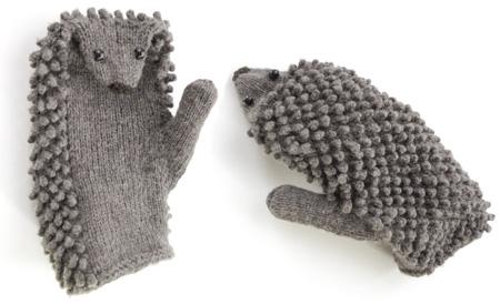 Hedgehog Mittens pattern FREE