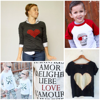 Simple DIY Valentine Shirts for the Whole Family