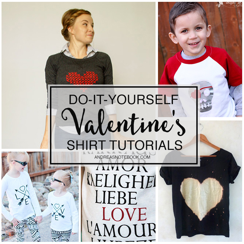 DIY Valentine's Day Shirt Tutorials