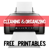 Cleaning and organizing FREE printables