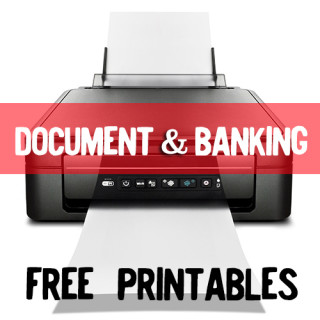 FREE Document and Banking Themed Printables