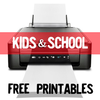 FREE Kids and School Themed Printables